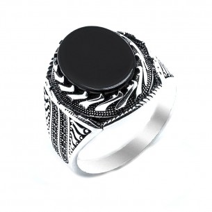 Onyx Stone 925s Silver Ring