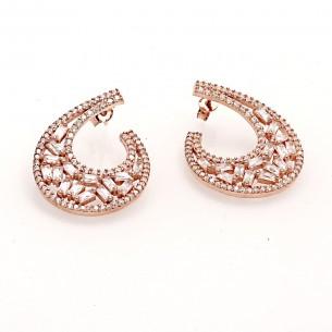 Silver Earrings with Cz Zirkonia