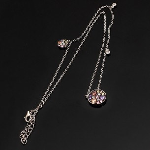 Women Silver Necklace With Zircone