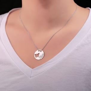 Kelebek İsimli Gümüş Madalyon