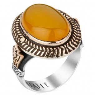 925s Silver Payitaht Signet Ring with Stone