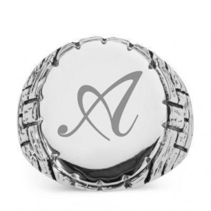 Personalized Men Silver Ring