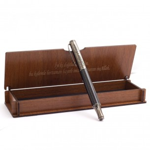 Pen in Personalized Wooden Case Set