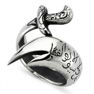 Zülfikar Kılıcı Özel Tasarım Erkek Gümüş Yüzük
