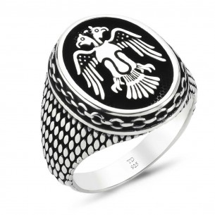 925 Ayar Gümüş Selçuklu Kartalı Yüzük