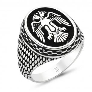Herrenring 925er Silber - Selcuklu Kartali