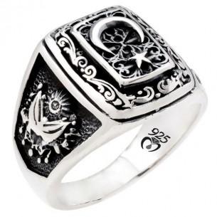 Gümüş Orjinal Devlet Bahçeli Yüzüğü