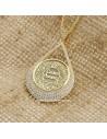 Sweetheart Mother Evil Eye Dua Silver Drop Necklace