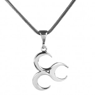 Three Crescents Necklace in 925 Sterling Silver