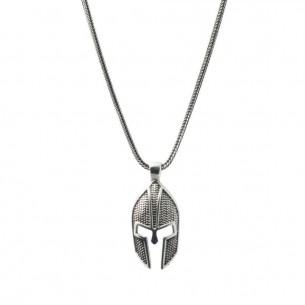 925 Ayar Gümüş Miğfer Erkek Kolye