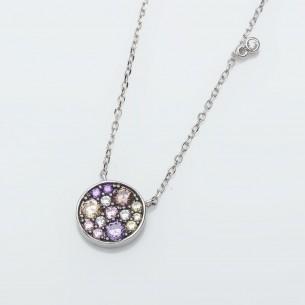 925 Sterling Silber Halskette mit Zirkonia Stein