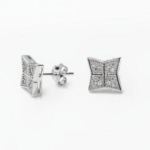 Pırlanta Model Gümüş Küpe