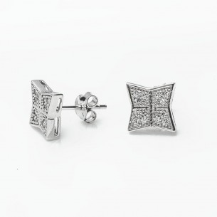 Silver Earrings with Cz...