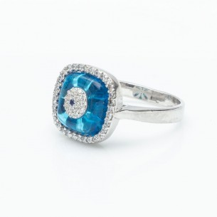 Zircone Stone Woman Silver Ring