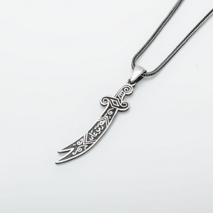 Sterling Silver Sword Men Necklace Jewelry