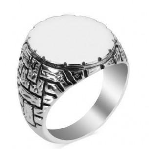 Herrenring 925er Silber - Çukur Yüzüğü