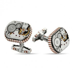 925s Silver Watch Movement Cufflinks Cuff Links