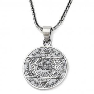Sterling Silver Suleyman Muhru Men Necklace