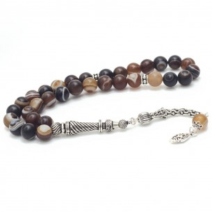 Achat Tesbih Gebetskette aus 925 Silber