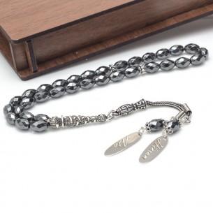 Hematite Stone Name 925s Silver Prayer Beads Tasbih