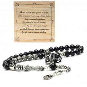 Onyx Stone Eagle Prayer Beads