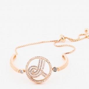 Ottoman Tugra Sterling Silver Bead Bolo Bracelet