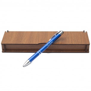 İsimli Kalem ve Not Yazili Ahsap Hediye Kutu