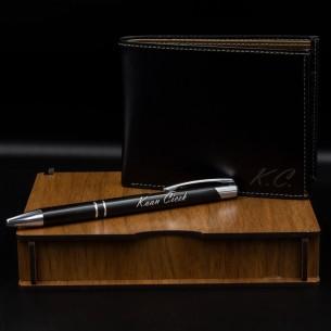 Persönliche Geschenkset mit Kugelschreiber & Geldbörse