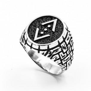 925 Ayar Gümüş Çukur Dizisi Yüzüğü