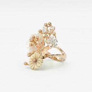 Art Woman Silver Ring