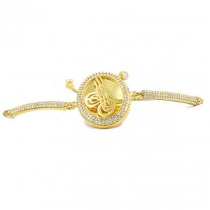 Ottoman Tugra Sterling Silver Bead Bolo Bracelet- Model 1