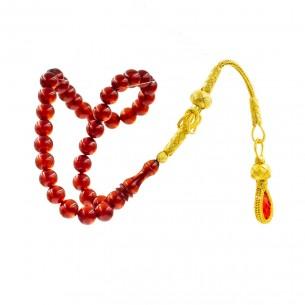 Artificial Amber beads Misbaha Tesbih