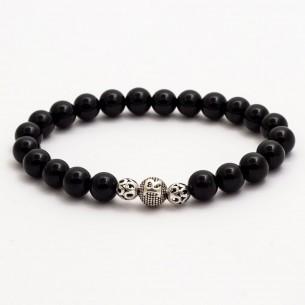 Onyx Black Initial Bracelet