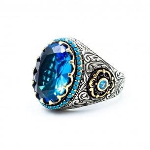 Blue Stone Handmade 925 Sterling Silver Ring