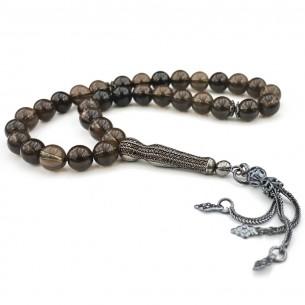 Gebetskette mit Quarz Stein aus 925 Silber
