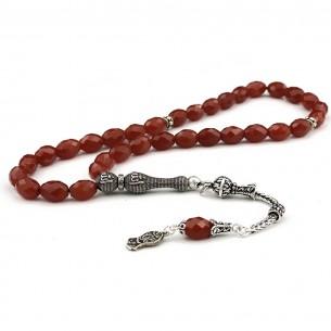 Allah Agate Stone 925s Silver Prayer Beads Tasbih
