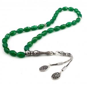 Mevlana Agate Stone 925s Silver Prayer Beads Tasbih