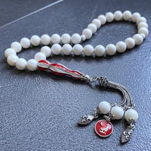 Gebetskette Tesbih Aus 1000er Silber Kamel Knochen