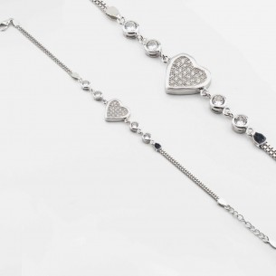 Heart Bracelet In Sterling...
