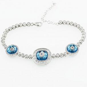Italian Sterling Silver Bracelet Zircone