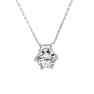 Solitaire 925 Sterling Silver Necklace