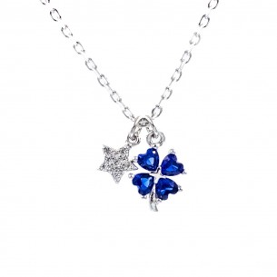 Star Clover 925 Sterling Silver Necklace