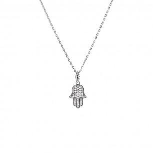 925 Sterling Silber Halskette mit Zirkonia