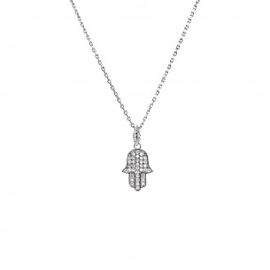 Hamsa 925 Sterling Silver Necklace