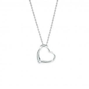 925 Sterling Silber Halskette mit Herz
