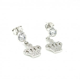 Sterling Silver Cubic Zirconia White Earrings