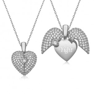 Heart Name 925s Silver Necklace