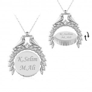 Engraved Name Silver Necklace
