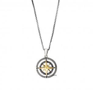 Compass Herrenkette 925er Sterling Silber