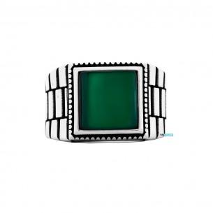 Green Agate Stone 925s...